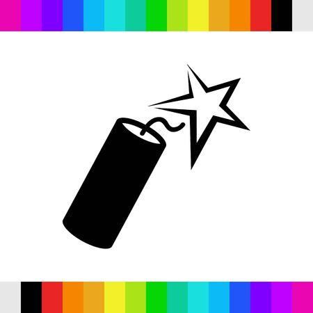 dinamita: icon stock vector illustration flat design style Vectores
