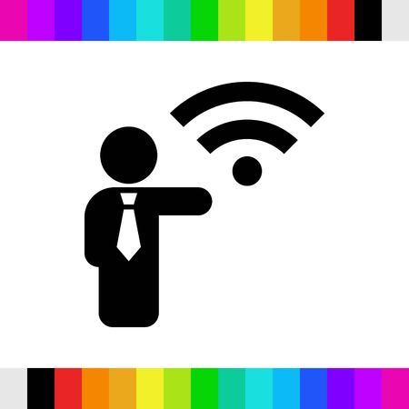 wifi icon stock vector illustration flat design Illustration