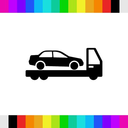 the wrecker: tow truck icon stock vector illustration flat design
