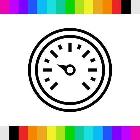 air gauge: icon stock vector illustration flat design style Illustration