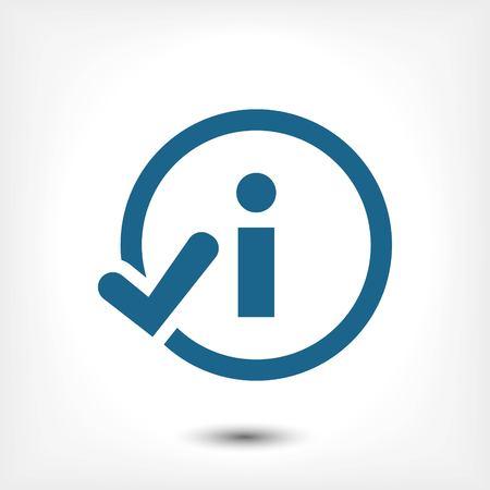 inform information: icon stock vector illustration flat design style Illustration
