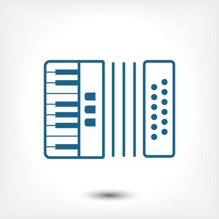 concertina: icon stock vector illustration flat design style Illustration