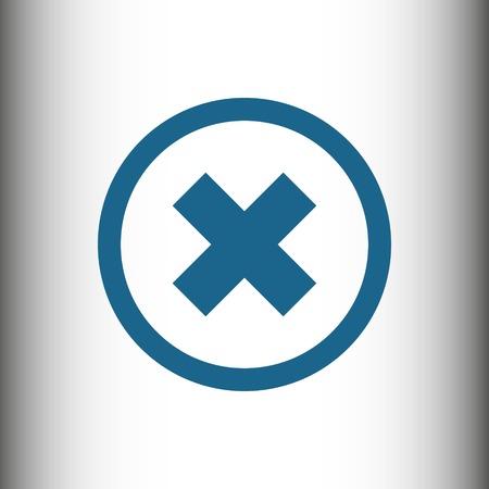 deny: icon stock vector illustration flat design style Illustration