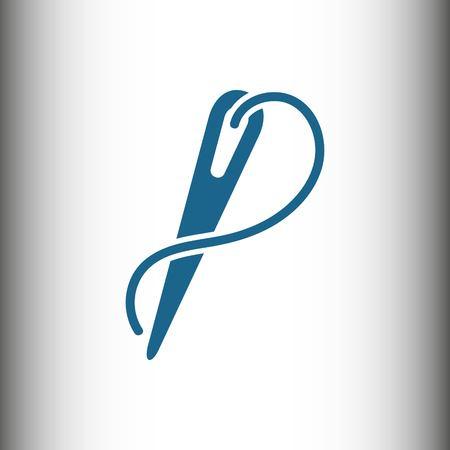 Nadel und Thread-Symbol stock Vektor-Illustration flachen Design