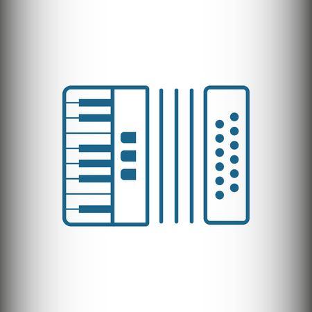 concertina: Accordion icon stock vector illustration flat design