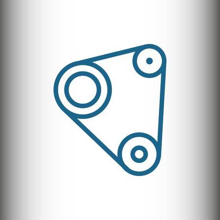 Timing belt icon stock vector illustratie plat ontwerp