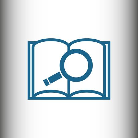 finding: open book and search icon stock vector illustration flat design