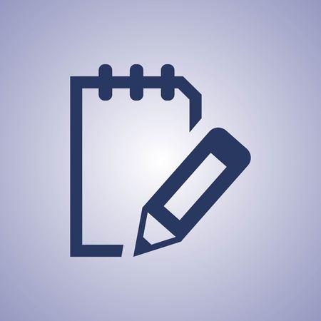 icon: notepad icon stock vector illustration flat design