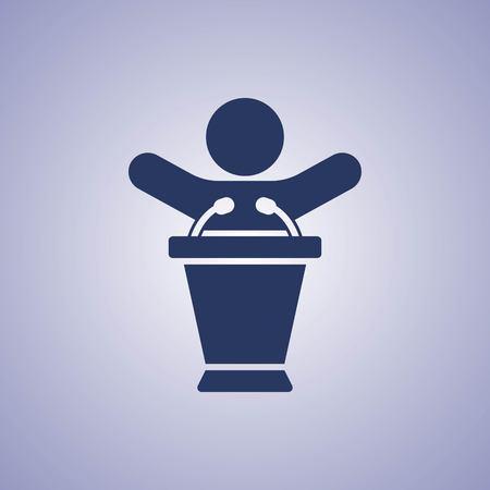 spokesman: Icon stock vector illustration flat design style