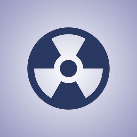 radioactive warning symbol: radioactive icon stock vector illustration flat design
