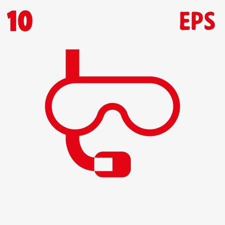 swimming glasses: icon stock vector illustration flat design style Illustration