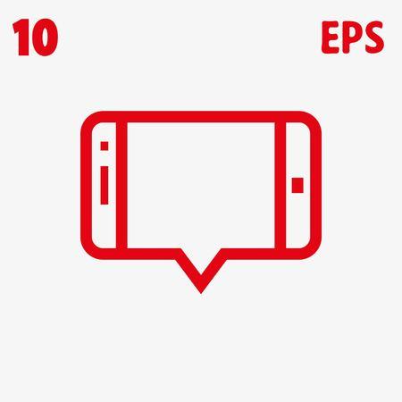 smartphone apps: icon stock vector illustration flat design style Illustration