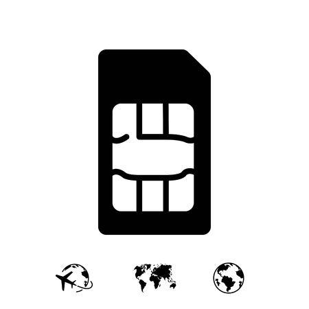 Sim card icon stock vector illustration flat design Illustration