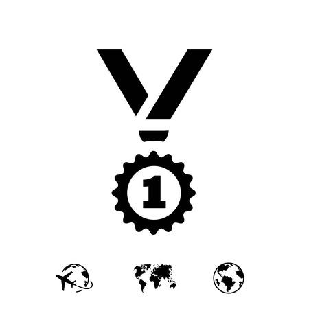 medal icon stock vector illustration flat design 向量圖像