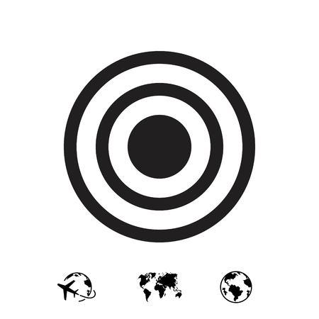 advantages: target icon stock vector illustration flat design