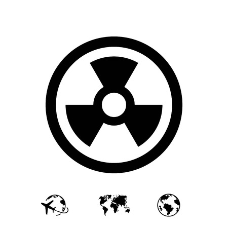 caution chemistry: radioactive icon stock vector illustration flat design