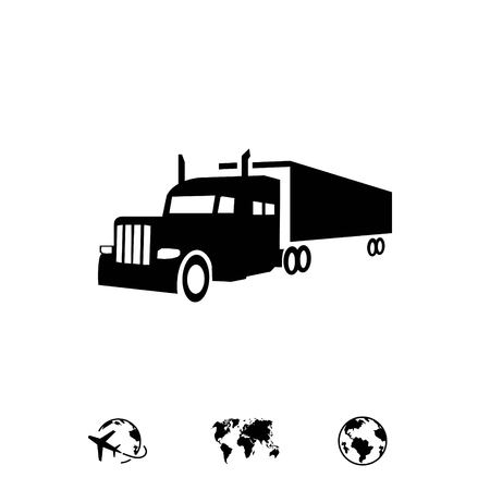delivery truck: truck icon stock vector illustration flat design