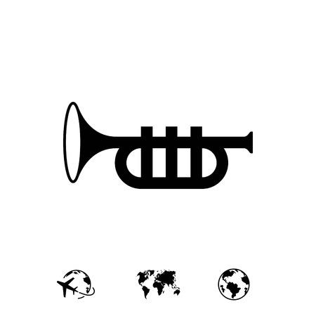 trompette icône stocks illustration vectorielle design plat