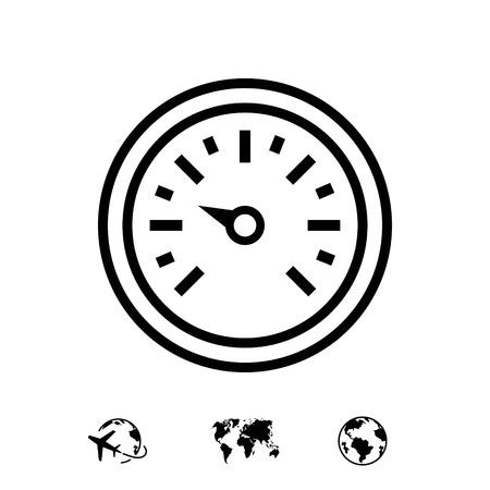 luchtdruksensor pictogram stock vector illustratie plat ontwerp