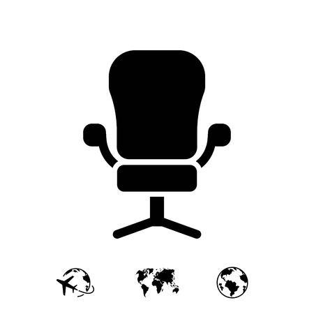 furniture design: office chair icon stock vector illustration flat design
