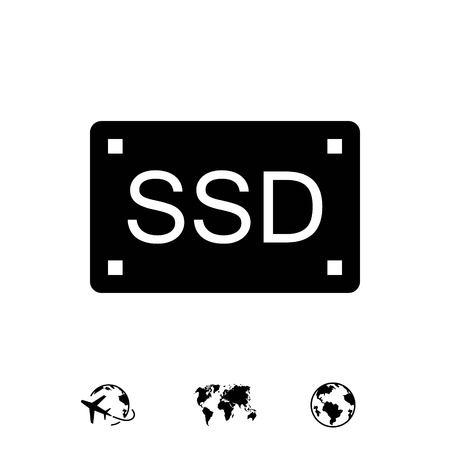solid background: ssd icon stock vector illustration flat design Illustration