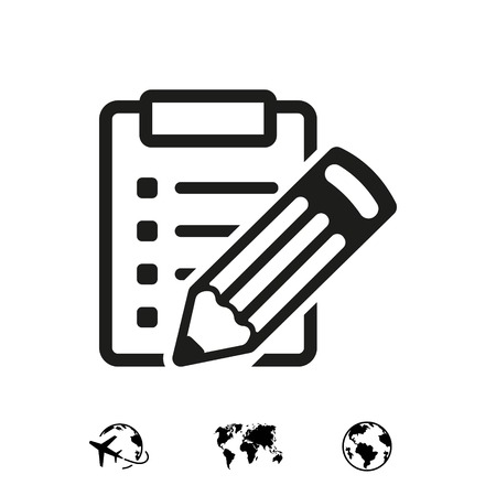 checklist  icon stock vector illustration flat design 矢量图像