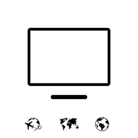 computer monitor icon stock vector illustration flat design 向量圖像