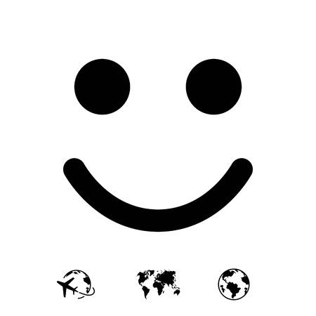 Smile icon stock vector illustration flat design 向量圖像