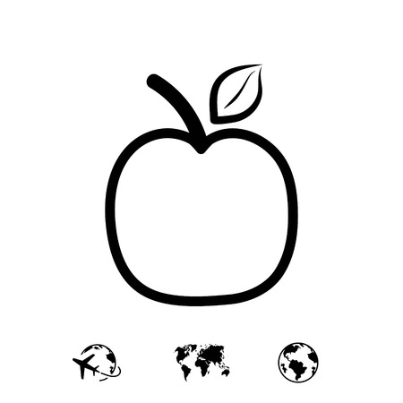 apple icon stock vector illustration flat design 向量圖像