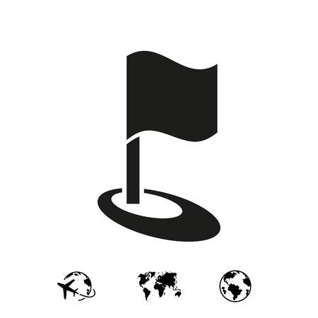 flag icon stock vector illustration flat design 向量圖像