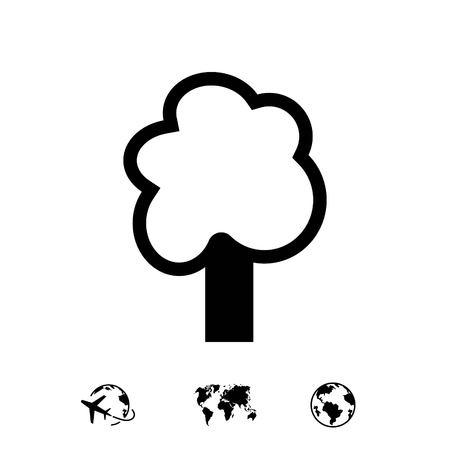 tree icon stock vector illustration flat design 向量圖像