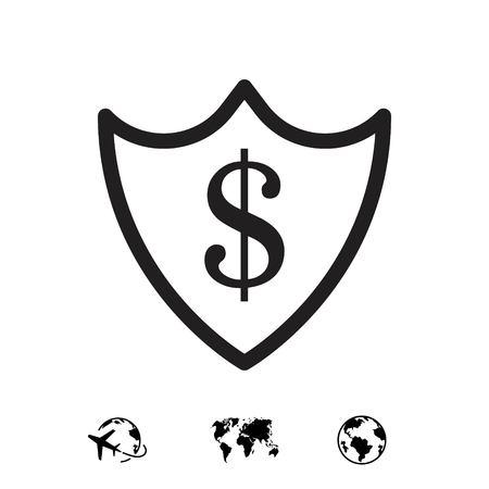 protection money icon stock vector illustration flat design