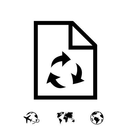 papier recycling pictogram voorraad vector illustratie plat ontwerp