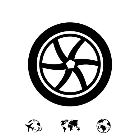 wheel icon stock vector illustration flat design