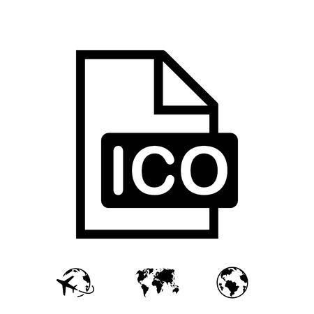 ico icon stock vector illustration flat design 向量圖像