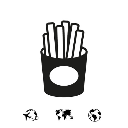 fries icon stock vector illustration flat design