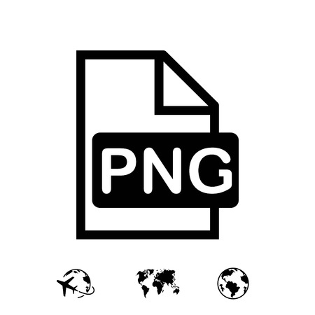 PNG icon stock vector illustration flat design