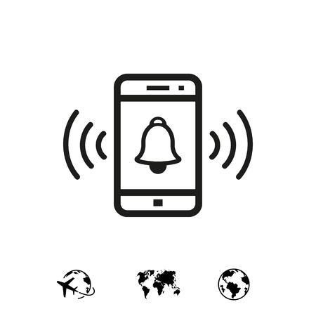 phone rings icon stock vector illustration flat design 版權商用圖片