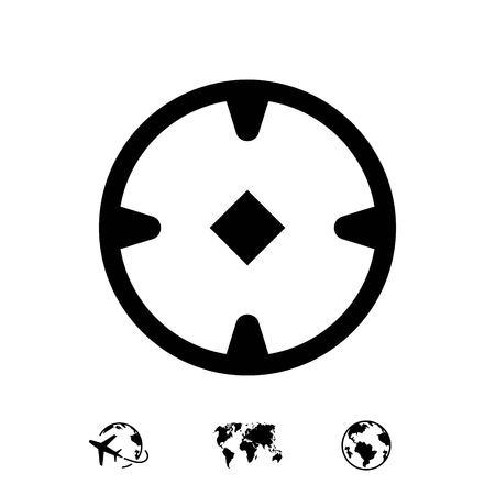location icon stock vector illustration flat design