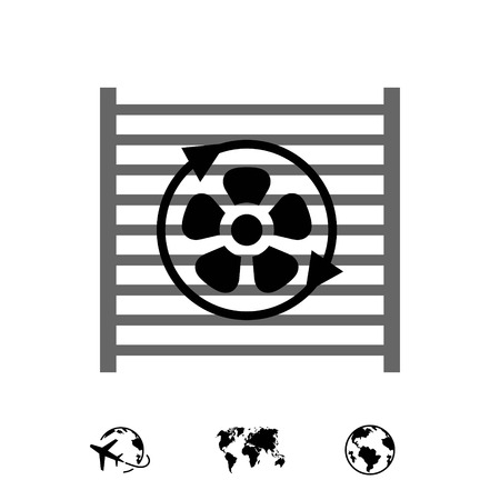 radiator cooling system icon stock vector illustration flat design 版權商用圖片