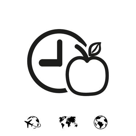 watch Apple Breakfast icon stock vector illustration flat design 向量圖像
