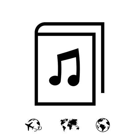 audiobook icon stock vector illustration flat design 向量圖像
