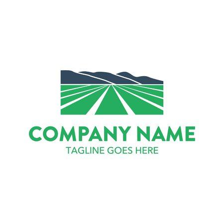 Agriculture Landscape Logo Illusztráció