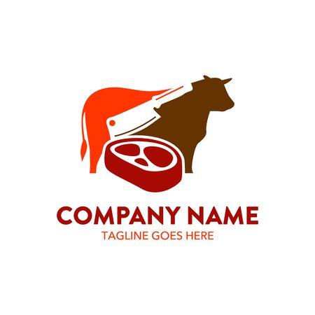 biefstuk logo Stock Illustratie