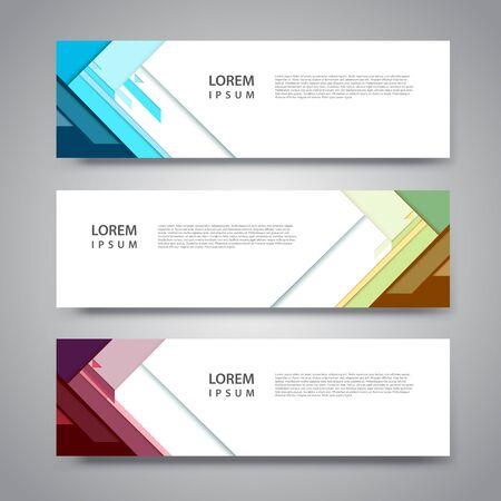 Vector set abstract geometric design banner web template. Ilustración de vector
