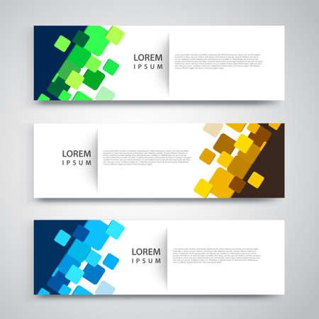 Vector set abstract geometric design banner web template. Vektoros illusztráció