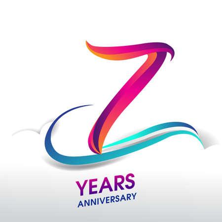 7th Years Anniversary celebration logo, birthday vector design.