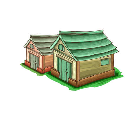 Illustration of a cartoon house