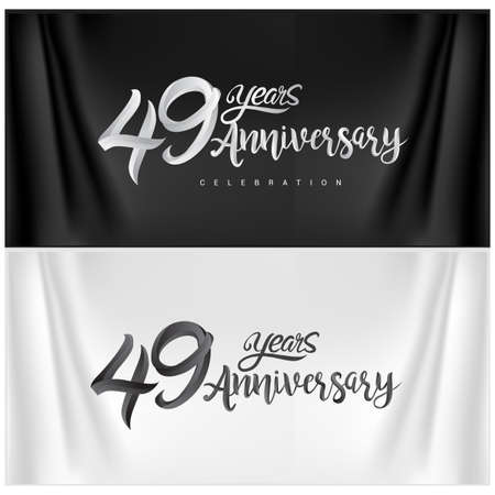 49th Anniversary Celebration. Anniversary handmade Calligraphy. Vector design for invitation card, banner and greeting card 免版税图像