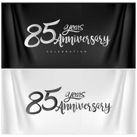 85th Anniversary Celebration Logotype. Anniversary handmade Calligraphy. Vector design for invitation card, banner and greeting card